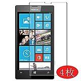 VacFun Lot de 4 Film de Protection d'écran pour Nokia Lumia 520 0,14mm, sans Bulles, Auto-Cicatrisant (Non vitre Verre trempé)(Not Tempered Glass Screen Protector)