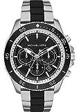 Michael Kors Herren-Armbanduhr Analog Quarz One Size, schwarz, zweifarbig