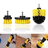 Leoie Tile Grout Power Scrubber Cleaning Brushes Cleaner Set for Electric Drills 3Pcs/Set