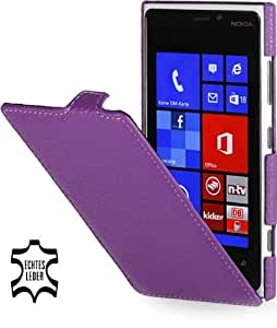 StilGut UltraSlim, Genuine Leather Case for Nokia Lumia 920, Purple