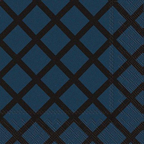 Ideal Home Serie l606144Marimekko 20Zählen Papier Servietten, Quilt, dunkles Blau Teller Quilt