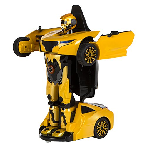 Rastar - Coche teledirigido Transformable en robot 1:14, color amarillo (ColorBaby 85002)