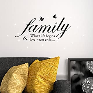 Wall Stickers Swarovski Crystals & Family Quotes Murals Decals Home Decoration Living Room Nursery Restaurant Cafe Office Décor