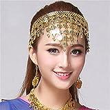 Frauen mit Kopfbedeckungen Bauchtanz Zubehör Kostüm Dancing Pailletten Haar Band