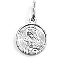 Medaglietta Santa Rita in argento Sterling