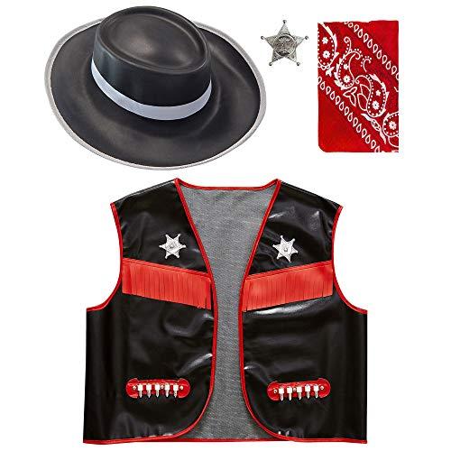 Widmann - Kinderkostümset Wilder Cowboy, 4-tlg (Kleinkind Halloween-kostüm Cowboy Für)