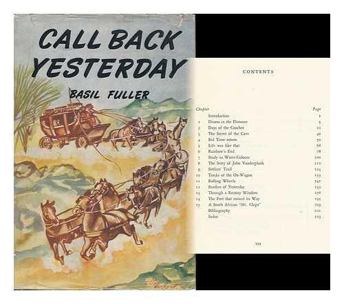 Call Back Yesterday / Basil Fuller