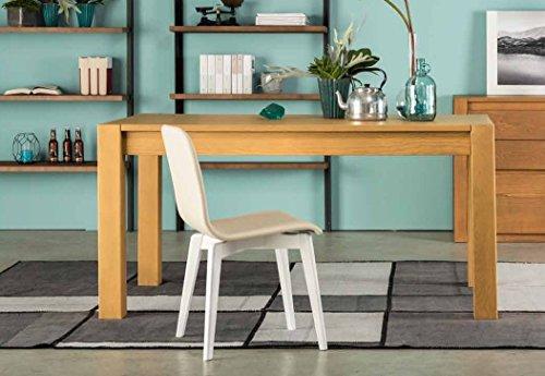 Legno&Design Table Cuisine séjour rectangulaire en frêne Extensible de 140 cm