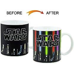 Taza cambiante de color Pawaca, Unicornio Taza Star Wars, Taza de cerámica Blanco con efecto térmico 330ml - cups / cups / pot para café, té y más