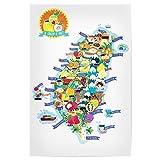 artboxONE Poster 45x30 cm Reise Taiwan Fruit Map