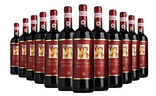 Chianti Classico di Montemaggio - Vino Toscano Biologico Chianti Gallo Nero - DOCG - Fattoria di Montemaggio - Annata 2013-0.75L - 12 bottiglie