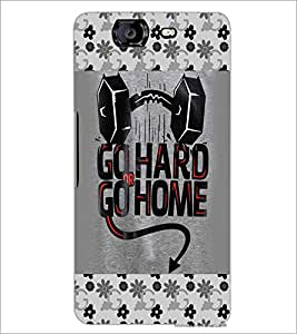 PrintDhaba Quote D-4124 Back Case Cover for MICROMAX A350 CANVAS KNIGHT (Multi-Coloured)