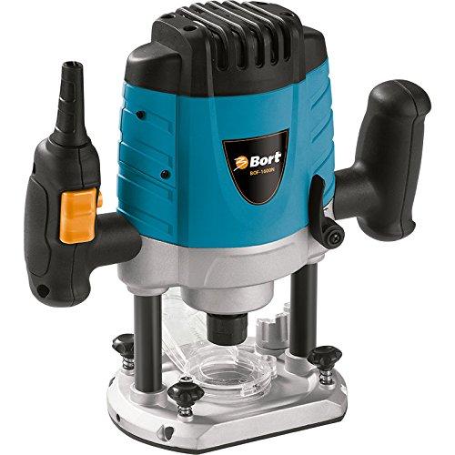 Bort BOF-1600N Semiprofessionelle Oberfräse 1600 Watt Drehzahlregelung bis zu 26000 U/min, Parallelanschlag