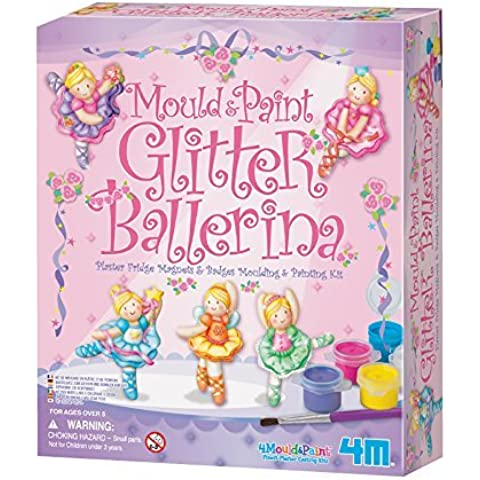 4M Mold and Paint Glitter Ballerina Kit by