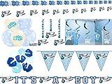 Komplettset für Babyparty Geburt Baby Boy Junge blau - Deko und Zubehör