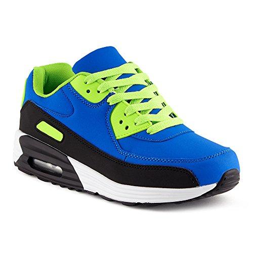 f78f34255cb9c2 Fusskleidung Herren Damen Sportschuhe Dämpfung Neon Sneaker Laufschuhe  Runners Gym Unisex Schwarz Blau Grün EU 43