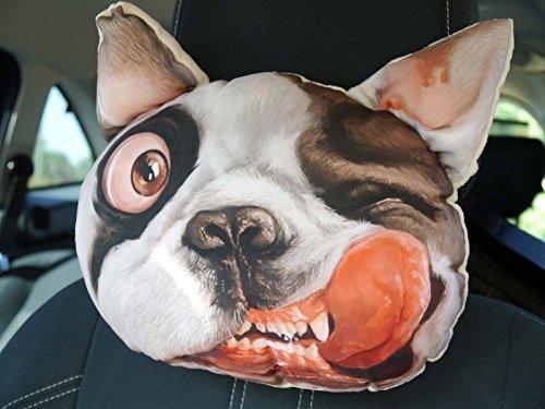 bulldog francés Placa Frontal suave cojín REGALO 3d Estampado Divertido Perro Regalo De Cumpleaños