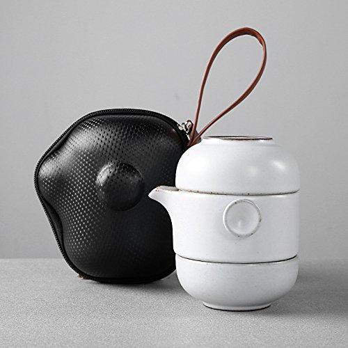 YUANLINGWEI Haushalt Tee Wasserkocher Keramik Teeservice Kung Fu Kaffee Set Weiß