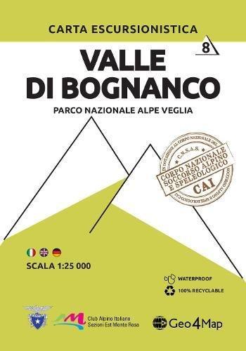 Carta escursionistica valle di Bognanco. Scala 1:25.000. Ediz. italiana, inglese e tedesca: 8