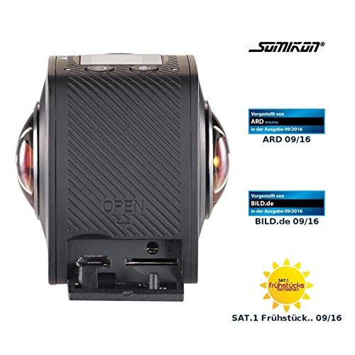 Somikon Panoramakameras: 360°-Full-HD-Action-Cam mit 2 Objektiven für...