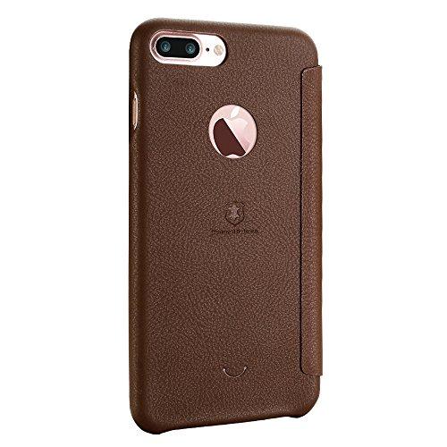 Wkae Lenuo PU + PC Litchi Textur Horizontale Flip Leder Tasche mit Card Slots für iPhone 7 Plus ( Color : Red ) Brown