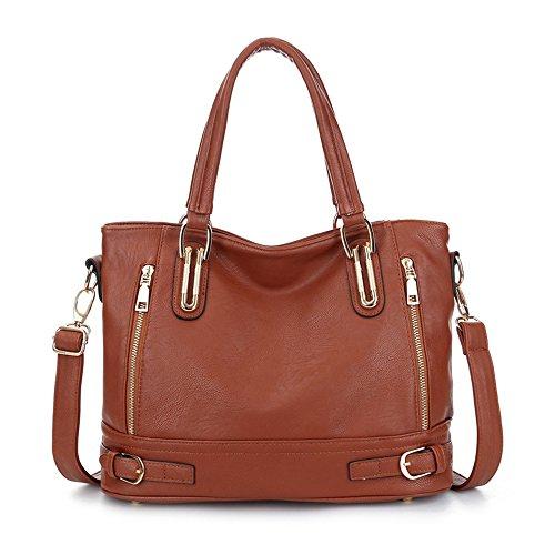 Sheli Damen Große Laptop Tasche Vintage Handtaschen PU leder Umhängetaschen Designer Geldbörsen für Frauen (Designer Inspirierte-tasche Geldbörse)