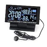 PolarLander 4 in 1 Digital-Auto-Thermometer-Hygrometer 12V DC-LCD-Bildschirm Hygrothermograph Wettervorhersage Spannung Uhr