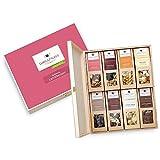 """Geschenk-Box für Frauen """"Ladiesnight"""": 1 kg Box mit Premium Nüssen und Schokolade in einer wiederverwendbaren, edlen Schmuckverpackung aus Birkenholz. Zum Geburtstag oder als Dankeschön."""