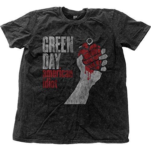 Green Day - Camiseta - Estampado - para hombre negro negro L/ 102 cm- 107 cm