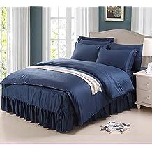 Copripiumino tinta unita/Pianura completo Comforter set/Trapunta di cotone puro/singolo copripiumino-E