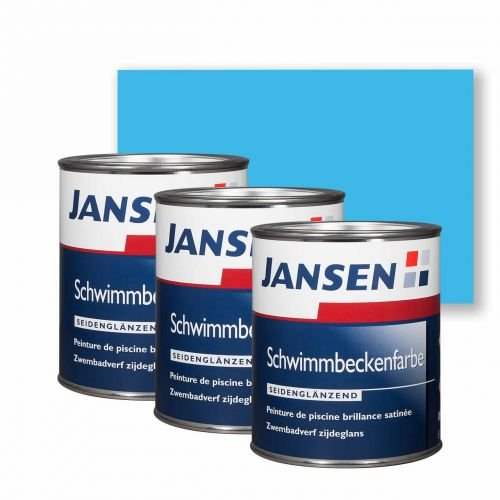 3 x Jansen Schwimmbeckenfarbe manganblau 0,75l