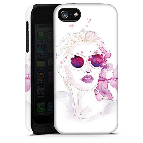 Apple iPhone X Silikon Hülle Case Schutzhülle Abstrakt Mädchen marenkruth Tough Case matt