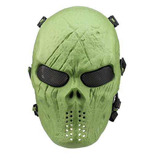 012765Tastschalter New Emirate M06Predator Maske, Full Face Scary Skull Skelett Airsoft/BB Gun/CS Full Face Schützen Maske 3Farben OD