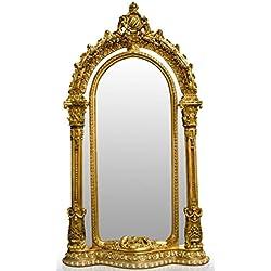 Casa Padrino espejo de pie barroco dorado 134 x H. 257 cm - Noble & Suntuoso