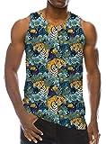 Goodstoworld Hombre Tirantes 3D Camisetas sin Manga Tigre Impresión Divertido Camiseta Funny Fitness Gimnasio Tank Top for Men M