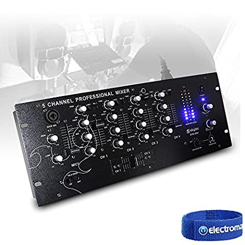 Skytec STM-3004 Black 4 Channel 19 Inch Rack Mount DJ Disco Party EQ Mixer