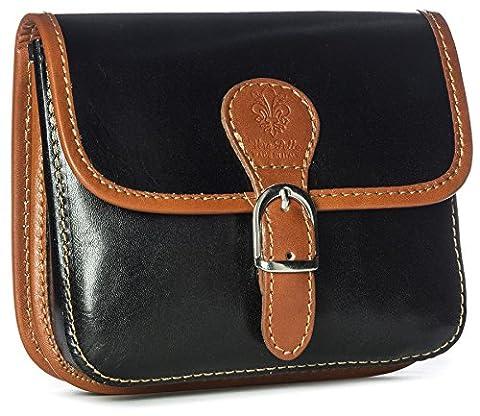 BHBS Damen klein Handtasche aus echtem Leder Umhängetasche Überqueren Sie
