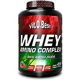 Vit-O-Best Whey Amino Complex, Proteínas, Sabor a Fresa Plátano - 1814 gr