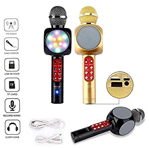Munchkin Land Wireless Karaoke With Recording, FM Radio, Attach Earphones, USB Device Support - WS858 (Multi Colours)