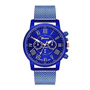 Bloodfin Classic Damen – Armbanduhr Damenmode Quarzuhr ultradünne Mehrfarbig Uhren für Mädchen Frau Frauen mit Silikon Armband Datumsanzeige Geschäft Armbanduhren Uhren Geschenk