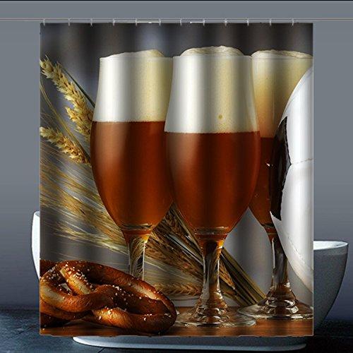 Brauch Beer Bier Dusche Vorhang Shower Curtain Wasserdicht Polyester Fabrik für Bad 152 Zentimeters x 183 Zentimeters