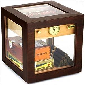 Adorini Humidor Cube Deluxe Walnuss inkl. Lifestyle-Ambiente Tastingbogen