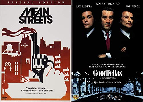 Scorsese & DeNiro American Gangster Classics: Mean Streets + Goodfellas 2 Mob Feature Films DVD Bundle