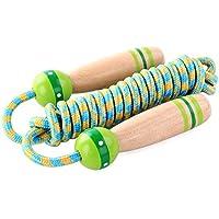 ANGTUO Skipping Rope Kids, niños ajustable Cotton Jumping Rope con mango de madera de dibujos animados para niños y niñas