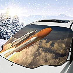 """gklglg Space Shuttle Car Windwhield Sun Shades Universal Fit 130 * 70cm/51 * 28"""" Window Keep Your Vehicle Cool Visor for Car Truck SUV Sunshade Cover"""