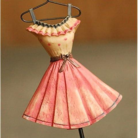 GYX Sombrero y capa de resina mano hierro forjado vintage pintado gancho Perchero Vestido de gancho 4 color clasificación ,