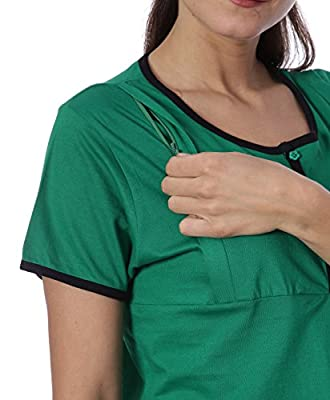 b3d337aab13 Goldstroms women's Round Neck Maternity/Feeding/Nursing Tshirt/Top/Tee/Tunic.  Click Button for Price