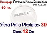 ARDITO MICHELE 10 SFERA PALLINA PLEXIGLASS 12 cm diametro PALLINA CWR KRISTALL Top Quality