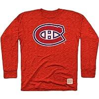 NHL Herren Long Sleeve Tri Blend Tee, herren, Long Sleeve Triblend Tee, rot, XX-Large