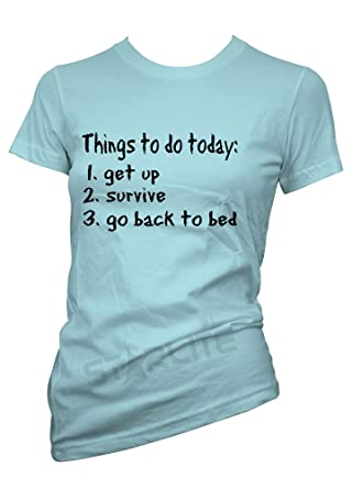 starlite-womens T shirts-Things To Do Today ladies Tops-Funny ...